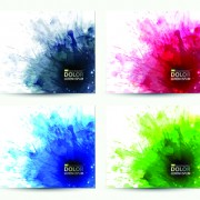 Link toSplash watercolor stains background vector 03 free