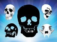 Link toSpooky skulls vectors free