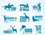 Link toSport and nature signs vector