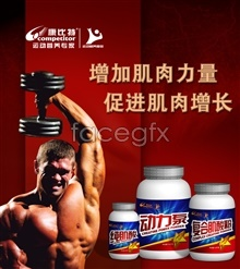 Link toSports nutrition posters psd