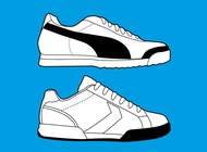 Link toSports shoes graphics vector free