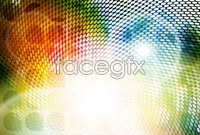 Spot color vector background for three
