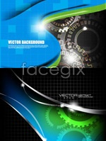 Link toSpot gear technology background vector