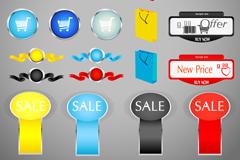 Link toSpot sales tag design vector