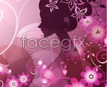 Link toSpray the beautiful female silhouette vector