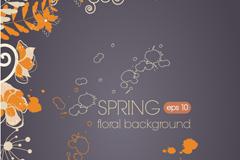 Link toSpring decorative background vector