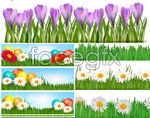 Link toSpring easter banners vector