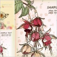 Link toSpring elegant handpainted flowers vector background
