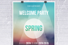 Link toSpring fashion party poster vector