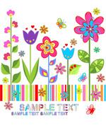 Link toSpring floral background text vector