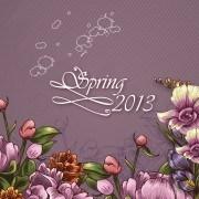Link toSpring floral design vector background 01