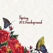 Link toSpring floral design vector background 02 free