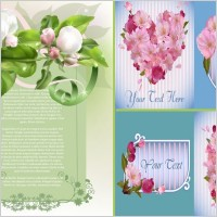 Link toSpring flowers and elegant vector background