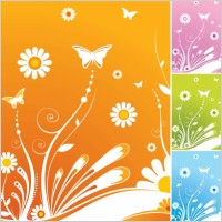 Link toSpring flowers butterfly vector