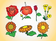 Link toSpring flowers collection vector free