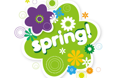 Link toSpring flowers tag vector