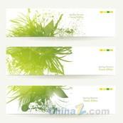 Link toSpring green banner vector