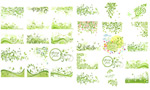 Link toSpring green pattern vector