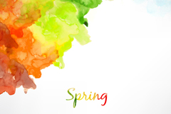 Link toSpring ink watercolor background vector