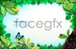 Spring leaf border 3 psd