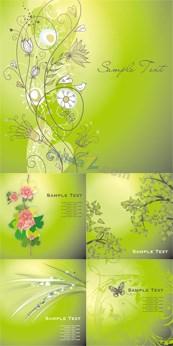 Spring light green background vector
