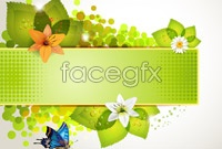 Link toSpring light green flowers vector graphic