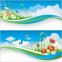 Link toSpring of banner01 vector