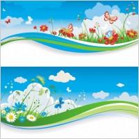 Link toSpring of banner03 vector