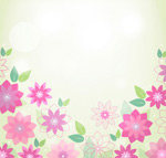 Link toSpring pink flower background vector