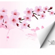 Link toSpring pink flower vector background graphics 01 free
