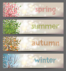 Link toSpring summer autumn winter seasons width vector