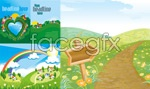 Link toSpring theme illustrations vector