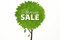 Link toSpring tree sale poster vector