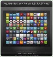 Link toSquare buttons 48 px sets 1-5