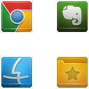 Link toSquare buttons icon set 4-5