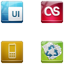 Link toSquare buttons icon set 6