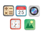 Link toSquare everyday icons vector