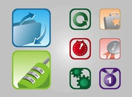 Link toSquare icons vector free