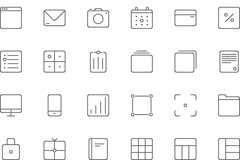 Link toSquare line icon vector