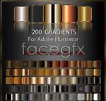 Square metal gradients vector