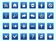 Square technology icons vector free