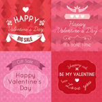 Link toSquare valentine's day cards vector
