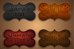 Link toStained old leather tag vector