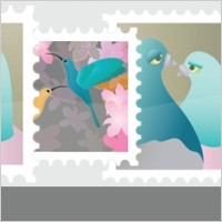 Link toStamps collection vector