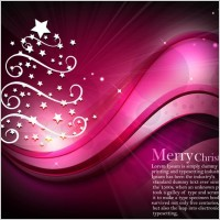 Starlight christmas tree with dynamic lines of the background vector