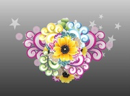 Link toStars and flowers decorations vector free