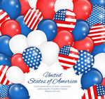 Link toStars and stripes background balloons vector
