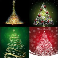 Link toStarstudded christmas tree vector