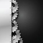 Link toSteel gears vector