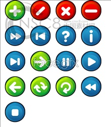 Link toStereo button vector icons